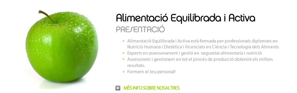 Presentació de ALEAnutri, Alimentació Equilibrada i Activa