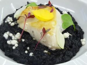 Arroz meloso con caracoles de mar, Sant Pedro y caviar de all-i-oli