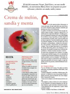 Receta Crema de melón y sandia